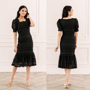 NEW Rachel Parcel Square Neck Lace Dress